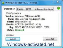 activation windows 7 . Instruction for Windows Loader activator.